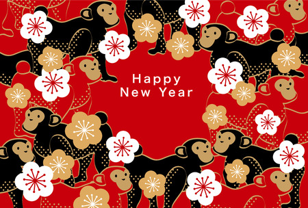 Japan's New Year's card 2016  イラスト・ベクター素材