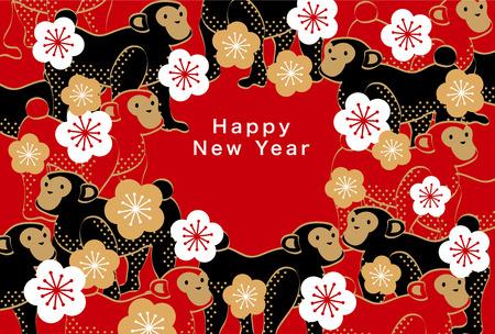 monkeys: Tarjeta del de Jap�n A�o Nuevo 2016