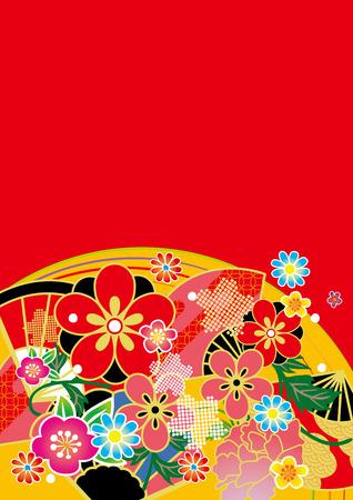 日本: 日本の美しい文様  イラスト・ベクター素材