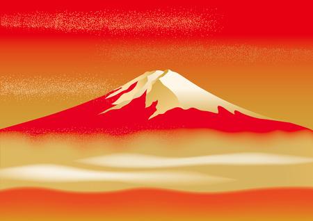 Fuji prachtige illustraties van Japan