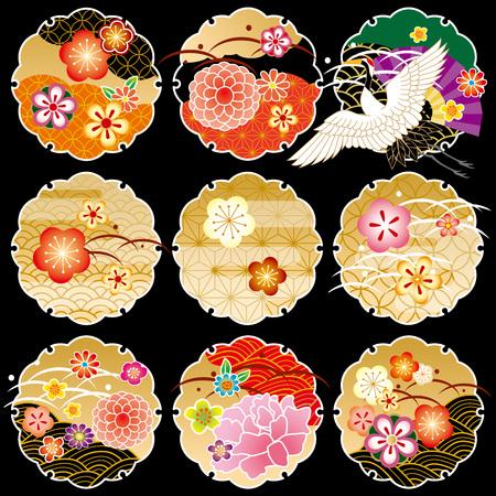 日本の美しい文様 写真素材 - 48277146
