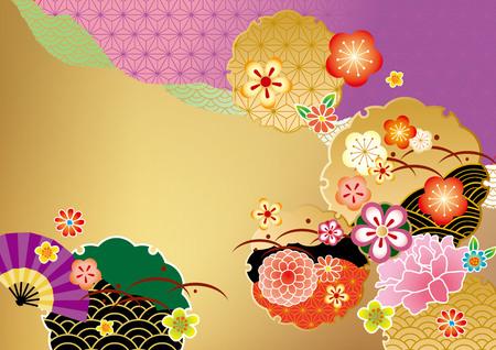 New Year: Piękny wzór Japonii Ilustracja