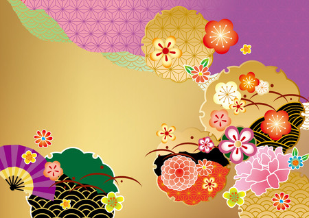 new year background: The beautiful pattern of Japan