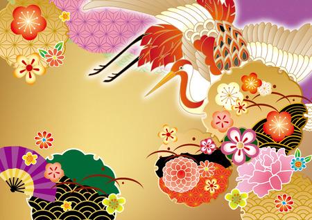 Het mooie patroon van Japan Stock Illustratie