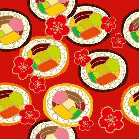 寿司パターン  イラスト・ベクター素材