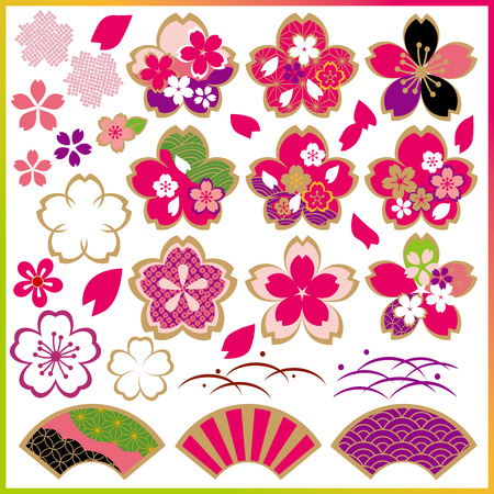 japan pattern: Cherry StockCherry Stock