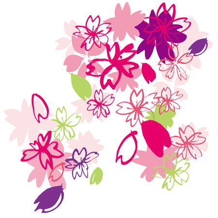 18,834 Cherry Blossoms Stock Vector Illustration And Royalty Free ...