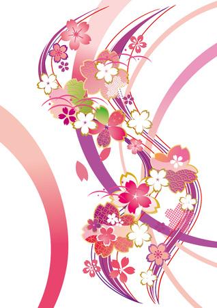 hermosas flores de cerezo de Japón