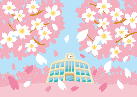 ceremony: Sakura at school