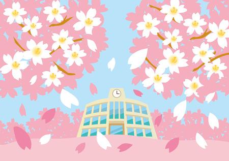 Feier: Sakura in der Schule