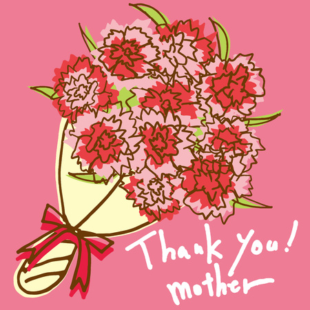 Thank you for Mother's Day  イラスト・ベクター素材