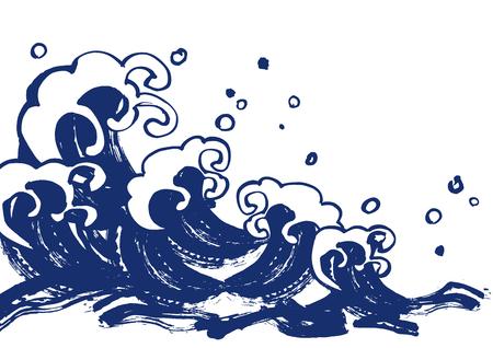 イラストの強力な波