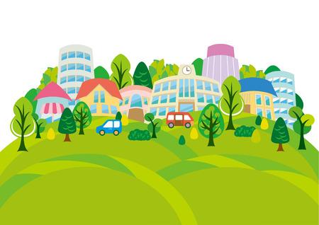green street: Fun town of illustrations