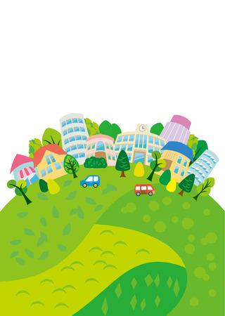 Lommerrijke stad illustraties
