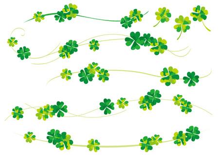 spring leaf: Happiness of clover Illustration