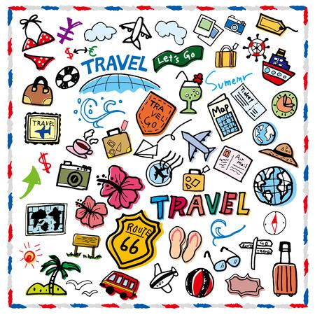 Pret illustratie van reizen Stock Illustratie