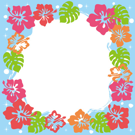 resort: Cute hibiscus frame