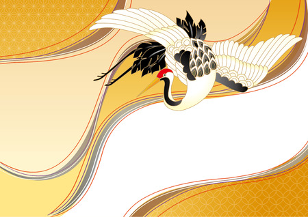 cranes: Japanese Pattern