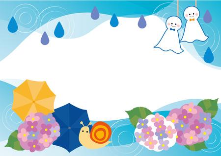 Rainy season of hydrangea