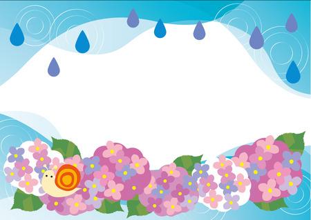 season: Rainy season of hydrangea
