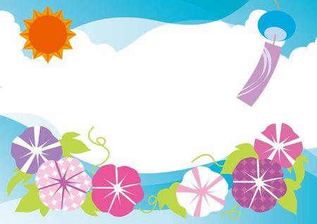 purple flower: Refreshing summer of Japan (morning glory) Illustration
