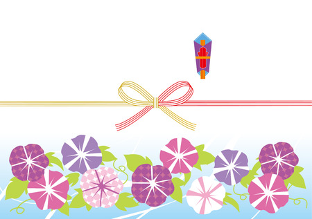 전통적인 일본 나팔꽃