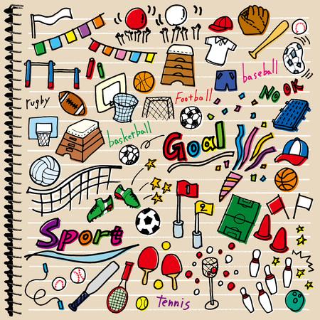 Verschiedene Sport Abbildungen Standard-Bild - 59424983