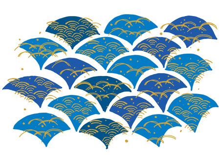 The pattern of japanese wave Illustration