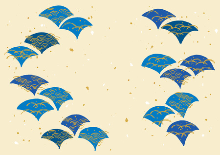 The pattern of japanese wave Illustration