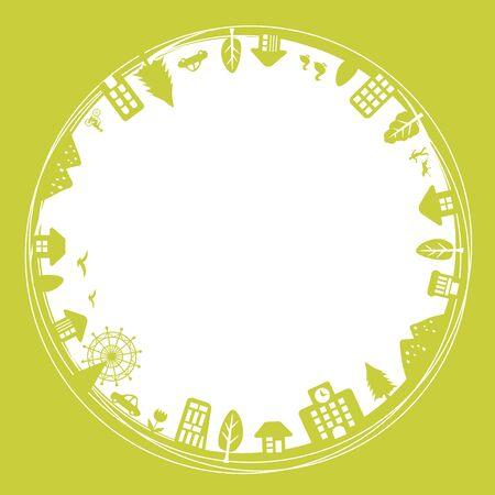 city: Ecology city Illustration