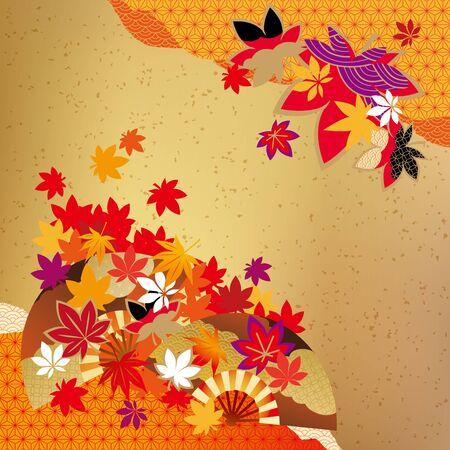 Modelo de las hojas de otoño hermosas