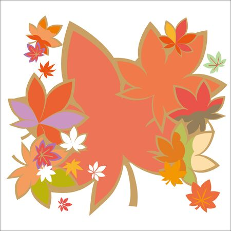 autumn colors: Beautiful autumn colors of the illustrations