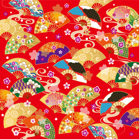 Het mooie patroon van Japan Stockfoto - 63044057