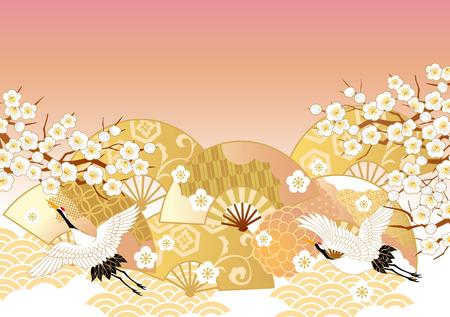 Piękny wzór Japonii Ilustracje wektorowe