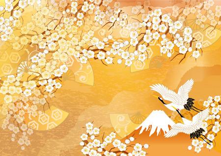 Mooie kraan illustraties van Japan