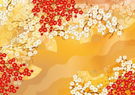 日本のイラストの美しい着物 写真素材