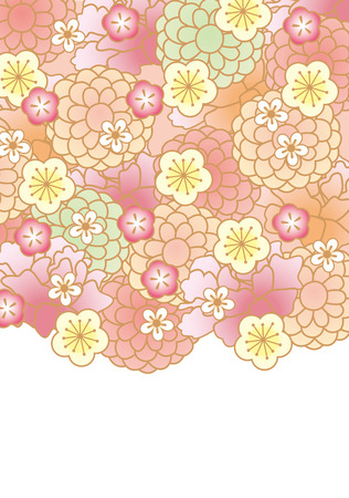 elebration: Japanese pattern of beautiful flowers of Japan