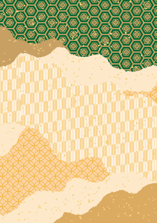 日本の伝統的な文様。  イラスト・ベクター素材