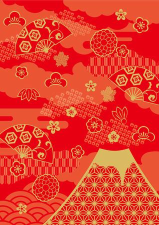 Patroon van de mooie Japanse Nieuwjaar Stock Illustratie