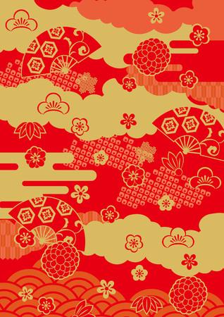 Pattern of beautiful Japanese New Year