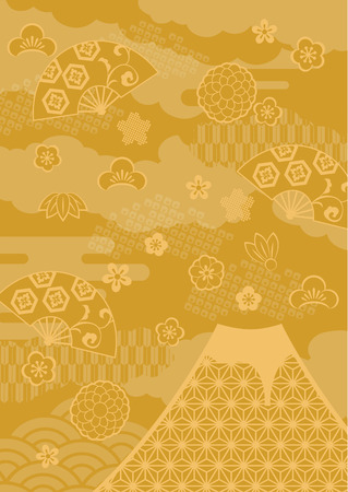 Pattern of beautiful Japanese New Year