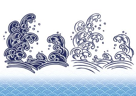 Handwritten wave of illustration 矢量图像