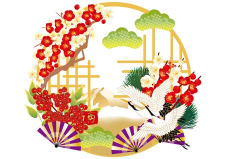 日本の年賀状のイラスト