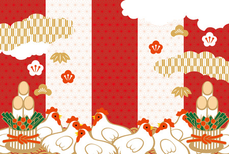 new plant: Japanese greeting card material (a lot of white chickens)