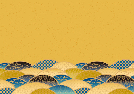 Beautiful Japanese Pattern of the Sea