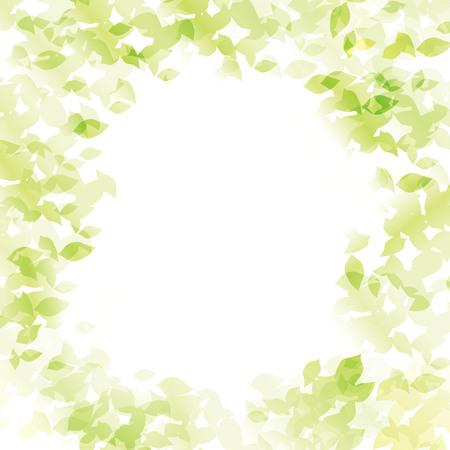Bladeren blootgesteld aan lichte vector. Stock Illustratie