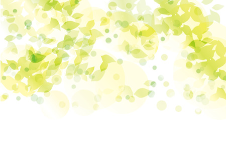 Leaves exposed to light Illustration