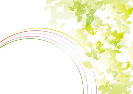 葉が光にさらされる  イラスト・ベクター素材