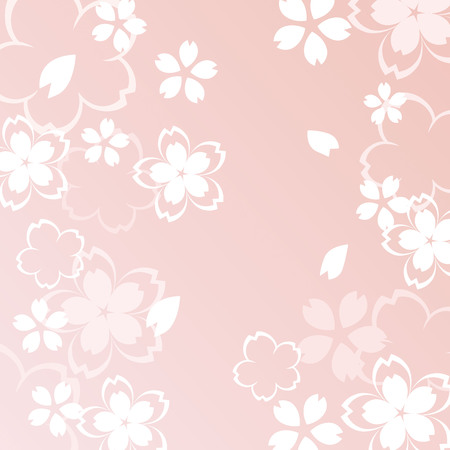A beautiful cherry blossom illustration  イラスト・ベクター素材