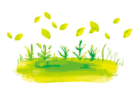 Watercolor illustration of green image.